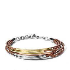 Damen Armband - Mini Leather Corded JA6694 | FOSSIL®