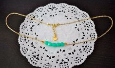 POPULAR Mint Necklace Dainty Gold Necklace by StardustTrinketBox, $17.25