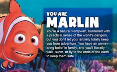 I took Zimbio's 'Finding Nemo' quiz and I'm Marlin! Who are you?