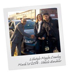 Mazda3 Vehicle Handover at Crawley Mazda in West Sussex