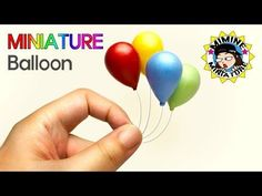 미니어쳐 풍선 만들기!^ㅁ^ (난이도 하) Miniature DIY - Balloon (Easy) / 미미네미니어쳐 miminemini - YouTube