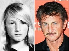 Sean PennWe're guessing Sean Penn's soft, bleach-blonde locks were the envy of every girl in school! We give Penn props for deep conditioning as a freshman in high school, but his long strands are. Actors Then And Now, Celebrities Then And Now, Young Celebrities, Hollywood Celebrities, Celebrity Yearbook Photos, Celebrity News, Sean Penn Young, Kino Theater, Young Old