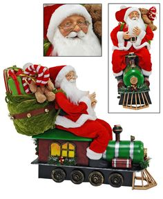 """Katherine's Collection Cuckoo Christmas Collection Approx 25"""" Santa On Train Doll Free Ship"""