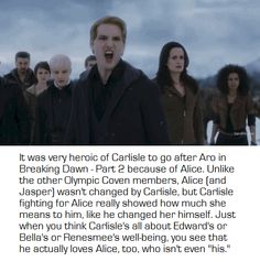 """Twilight: BD2 Carlisle loves all his """"kids"""" and they are his and Esme`s just as much as Renesmee is Edward and Bella`s"""
