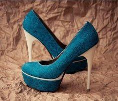 #FSJshoes - #FSJ Shoes Blue Platform Heels Satin Pumps Stiletto Heels for Bridesmaid - AdoreWe.com