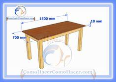 Plano de mesa de madera medidas | Web del Bricolaje Diy diseño y muebles