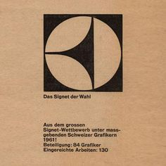 Electrolux's logo design in 1961. Sun and earth – concave-convex' design-inspired.