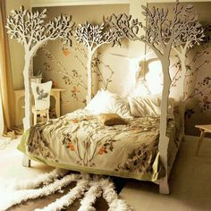 I love the idea of a forest bedroom for a baby or kid. It could be for either gender and could be for nearly any age.