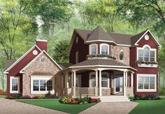 Victorian House Plan with 2265 Square Feet and 4 Bedrooms from Dream Home Source | House Plan Code DHSW42036