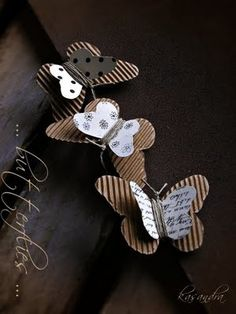 corrugated butterflies and jute wrapped in the middle and tied at the end for the antennas creative paper crafts Diy And Crafts, Crafts For Kids, Arts And Crafts, Diy Paper, Paper Crafts, Butterfly Crafts, Butterfly Mobile, Candy Cards, Cardboard Crafts