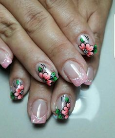 Ideas para decorar las uñas con estilo #uñasdecoradasjuveniles Pedicure Designs, Nail Designs, Beauty Nails, Hair Beauty, Nail Art Techniques, Easy Nail Art, French Nails, Love Nails, Spring Nails