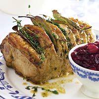Recept - Gemarineerde rollade met cranberrysaus - Allerhande