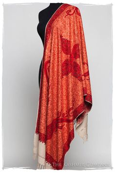 The Antiquaires Shawl Collection Scarlet, Paisley, Kashmiri Shawls, Embroidery Designs, Indian Embroidery, Indian Wear, Flower Patterns, Tie Dye Skirt, Collection