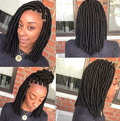 Very cute faux locs by @simplygeniee  Read the article here - http://blackhairinformation.com/hairstyle-gallery/cute-faux-locs-simplygeniee/