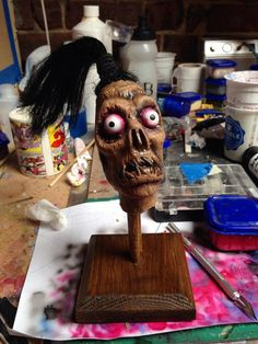 Beetlejuice Shrunken Head Guy Latex Horror by RabidWeaselStudio