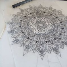Interesting mandala tattoo design