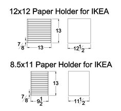Paper Holder for IKEA Dimensions