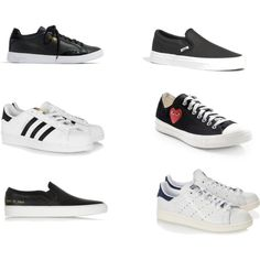 Athletic Slip On by elanamarie on Polyvore featuring Common Projects, Comme des Garçons, Madewell and adidas Originals