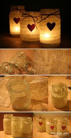 Świeczniki ze słoików