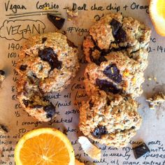 These Vegan Dark Chocolate and Orange Oatmeal Cookies are the perfect, simple snack to help you through Veganuary -I bet the non-vegans wouldn't have a clue
