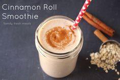 Cinnamon Roll Smoothie - FamilyFreshMeals.com -- Such a yummy smoothie! -