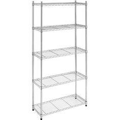 Whitmor Supreme 5-Tier Shelves, Chrome