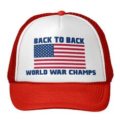 Undisputed World War Champions, American Flag Hat