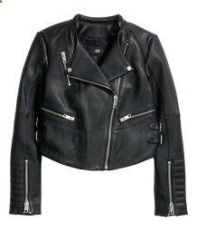 HM:Leather Biker Jacket $150.00 ($299 50% OFF)