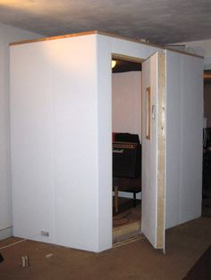 Making a vocal booth - A photo blog