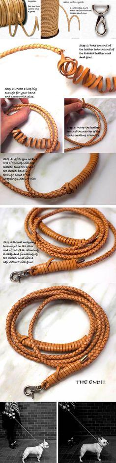 DIY Braided Leather Dog Leash 2