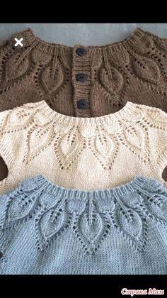 Diy Crafts Knitting, Knitting For Kids, Baby Knitting Patterns, Lace Knitting, Crochet For Kids, Knitting Designs, Crochet Baby, Knit Crochet, Knitting Needles