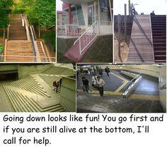 Steep handicap ramps
