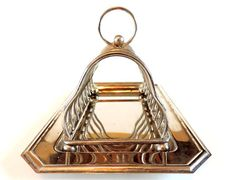 French Vintage Silver Plated Toast Rack and by SouvenirsdeVoyages, $40.00