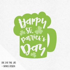St Patrick's Day bier Svg, St Patricks bier svg, Leprechaun svg, shamrock svg, Leprechaun hat svg, horseshoe svg, silhouette, cricut
