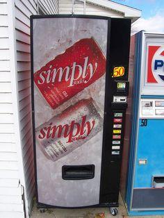 "A vending machine advertising ""Simply soda."" Presumably rare, I had never heard of the brand. Soda Vending Machine, Vending Machines, Soda Machines, Room, Wedding, Bedroom, Valentines Day Weddings, Vending Machine, Rooms"