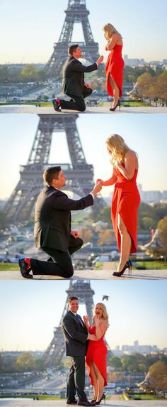 This is the most perfect proposal at the Eiffel Tower!