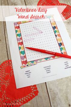 Valentine's Day Word Search by Laura's Crafty Life