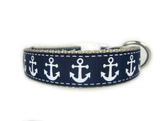 Anchor Dog Collar 1 inch wide buckle or by Apolloscloset on Etsy, $12.00