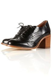 Jeeves Black Lace Up Heeled Brogues - Id like a pair for work