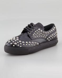 http://ncrni.com/prada-studded-lace-up-sporty-oxford-black-p-13289.html