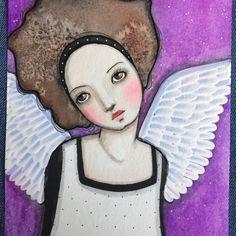 OOAK Original watercolor painting Wings by Pennystamper on Etsy