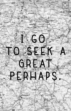 "Looking for Alaska quote ""I go to seek a great perhaps"""
