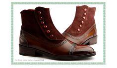 【楽天市場】アドベンチャーボタンポイントブーツ☆最高級イタリア産の皮革 【ビジネスシューズ/紳士靴/本革靴/皮靴/本革底/ブーツ/メンズ/Men's/ハンドメイド 】【商品名:lstylehomme No. 2437 ダークブラウン】:MIELセレクトショップ