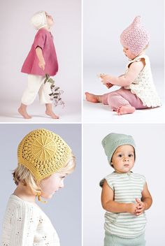 oMG! the bonnets! Organic cotton knitwear from Miou Kids