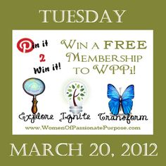 Pin It 2 Win It!!! Win a FREE 1 year Membership to WPPi Ignite! Simply like this pin, re-pin it and comment on why you would like to win! We will select a winner through random.org 8pm Central on Tuesday, March 20, 2012