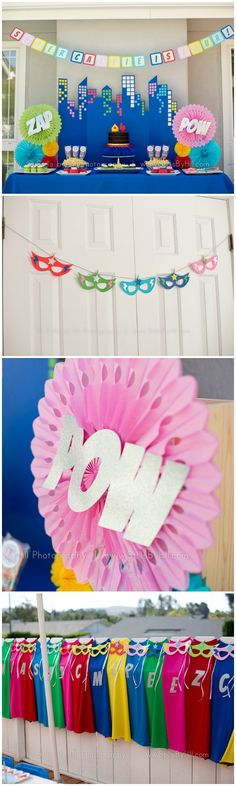 Girly Superhero Party Ideas