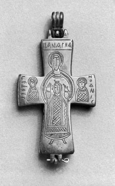 Pectoral Cross with the Virgin and Child, Saints Peter, John, and George