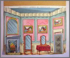 Pollocks Toy Theatre Original 1870s Backdrop Scene Lithograph Cinderella No 3 | eBay