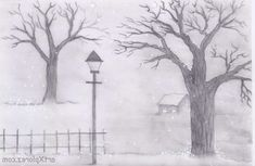 pencil sketches easy nature beginners landscape landscapes drawing drawings beginner scenery sketch shading sketching easiest study winter charcoal visit