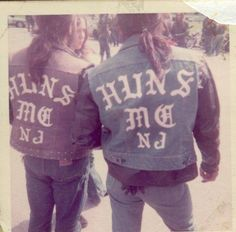 """""""Old School Bikers"""" .... Riding out of the East Coast in the '70s, the """"Huns"""" MC was a major force in the battle for bikers' rights....."""